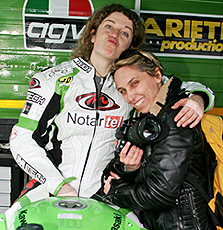 Chiara Valentini ed Elena Landi a Vallelunga Aprile 2007
